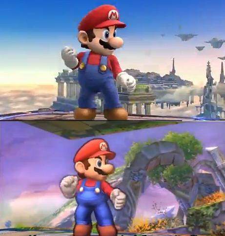 Wii U en haut, 3DS en bas