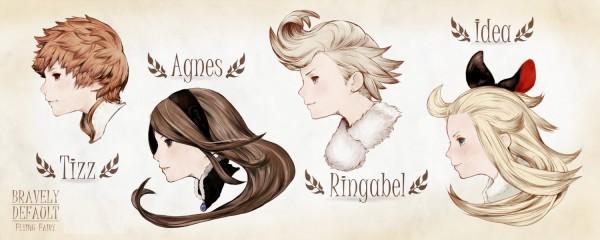 Nos 4 héros: Tiz Arrior, Agnès Oblige, Ringabel et Edea Lee