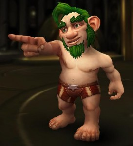 Voici donc la nouvelle apparence du Gnome.  Oui, chez Game Inferno, nous soutenons les Gnomes, surtout les Gnomes Démoniste avec une tite moustache et une barbiche et rien sur le caillou et qui... comment ça je parle de mon perso?