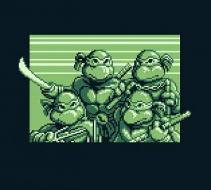 Quatre tortues d'enfer dans la ville