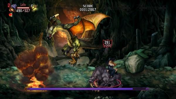 La wyverne, un des premiers boss du jeu, et un plaisir pour les yeux en termes d'animation et d'effets de flamme.