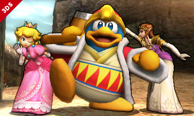 super smash bros Dadi-Peach-Zelda