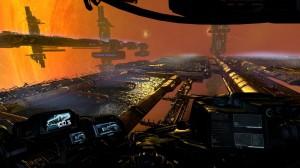 Vue cockpit dans X: Rebirth