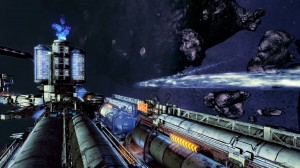 Une des nombreuses stations spatiales dans X: Rebirth