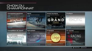 Forza 5 - Liste des championnats