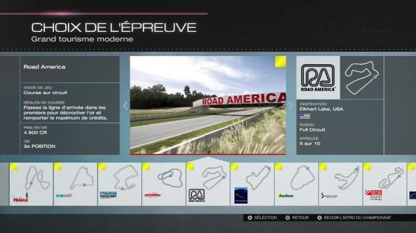 Forza 5 - choix des épreuves