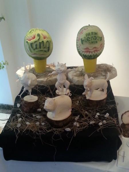 Dachines et melons sculptés