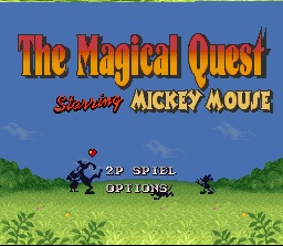Mickey Magical Quest - Titre