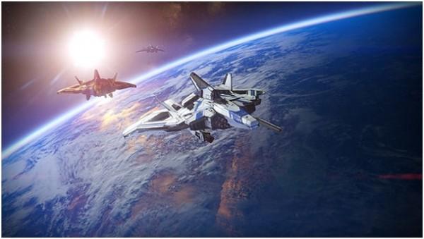 Le mode coop en attente en orbite au-dessus de la Terre.