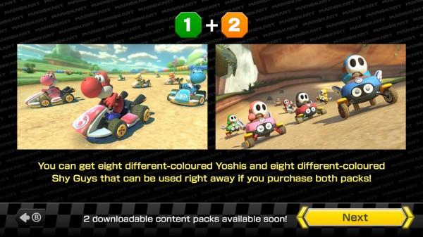 Pour l'achat des DLCs, Nintendo offre 8 coloris différents pour Yoshi et Maskass, disponible immédiatement.