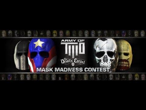 Exemple de masques proposés dans le jeu