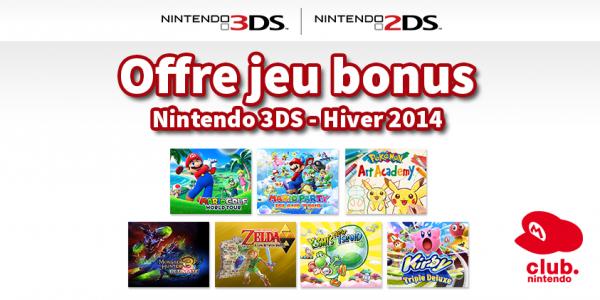 Nintendo - Offre Hiver 2014