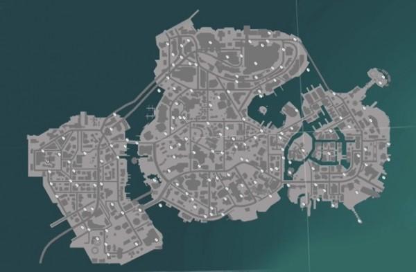 La carte de Sunset entièrement débloquée dès le départ. Un gros terrain de jeu, sur terre, mer et dans les airs.