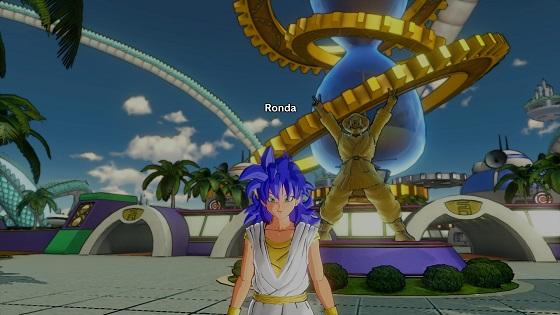 Voici Ronda ! Mon personnage. Un petite Saïyan.