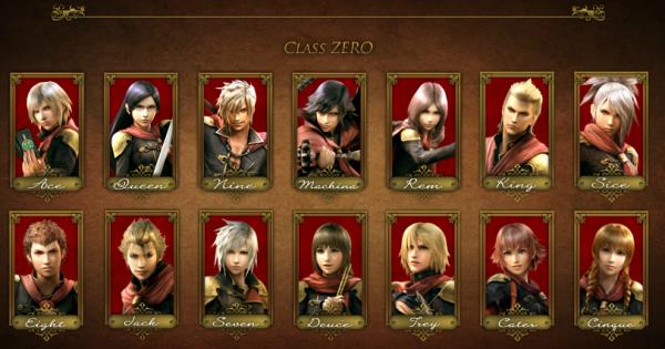 La fameuse Classe Zero et ses membres aux noms de cartes (sauf Machina et Rem)