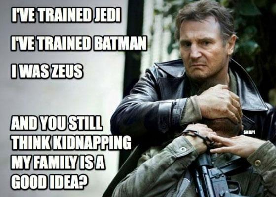 Oui, Liam Neeson est dangereux...