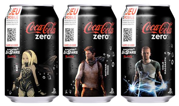 Oh! Des canettes Coca Cola Zero avec des jeux Sony dedans. Tu achètes à boire, ça te fait un jeu mobile... COMMENT CA C'EST PAS PAREIL????