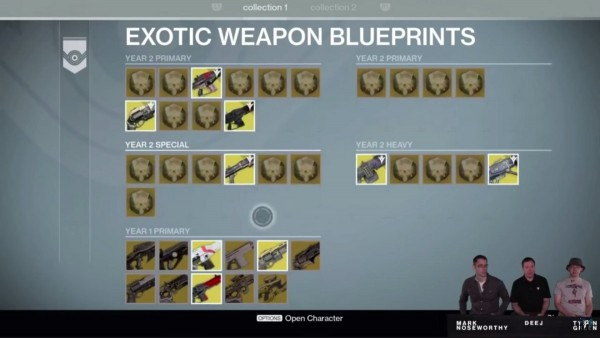 Destiny TK - Plans Armes Exo